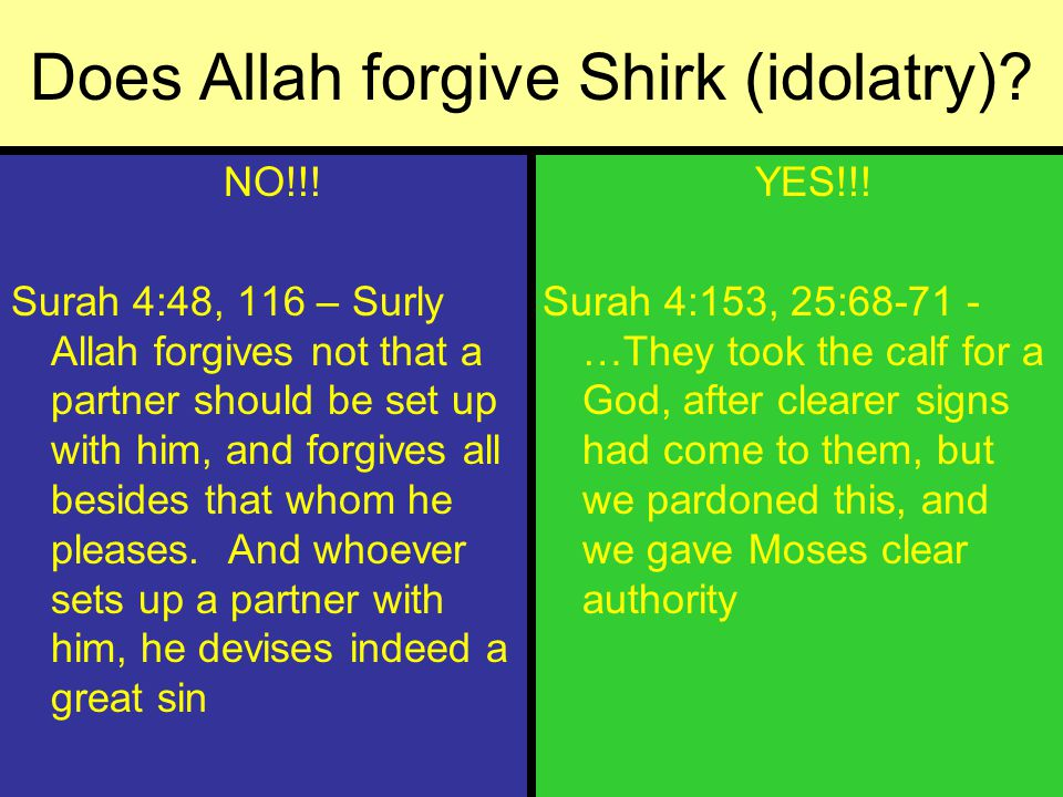 islam evils of idolatry surah 1026 38 essay It is about islamic apologetics and refuting christianity and deviant muslim sects it is also about learning islam.