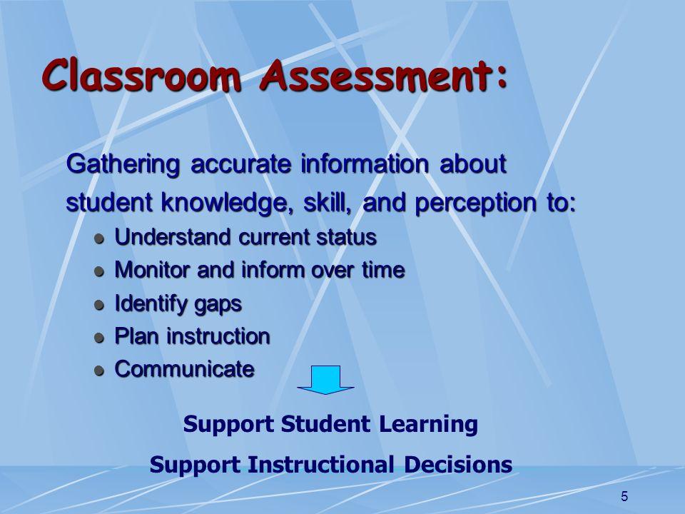 Classroom Assessment:
