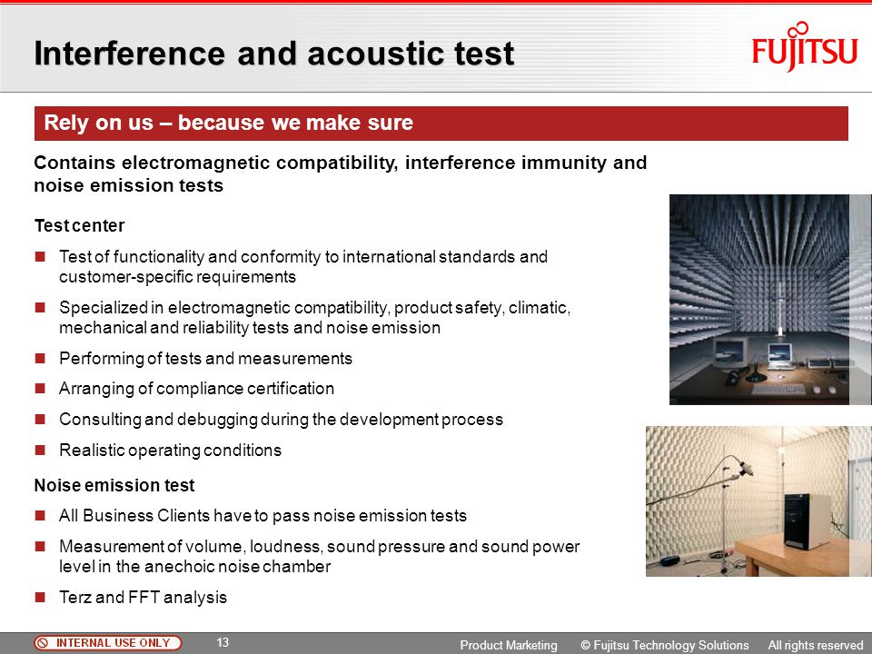Interference and acoustic test