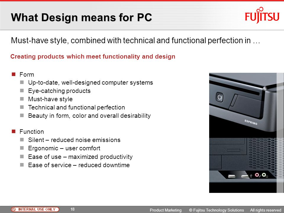 What Design means for PC