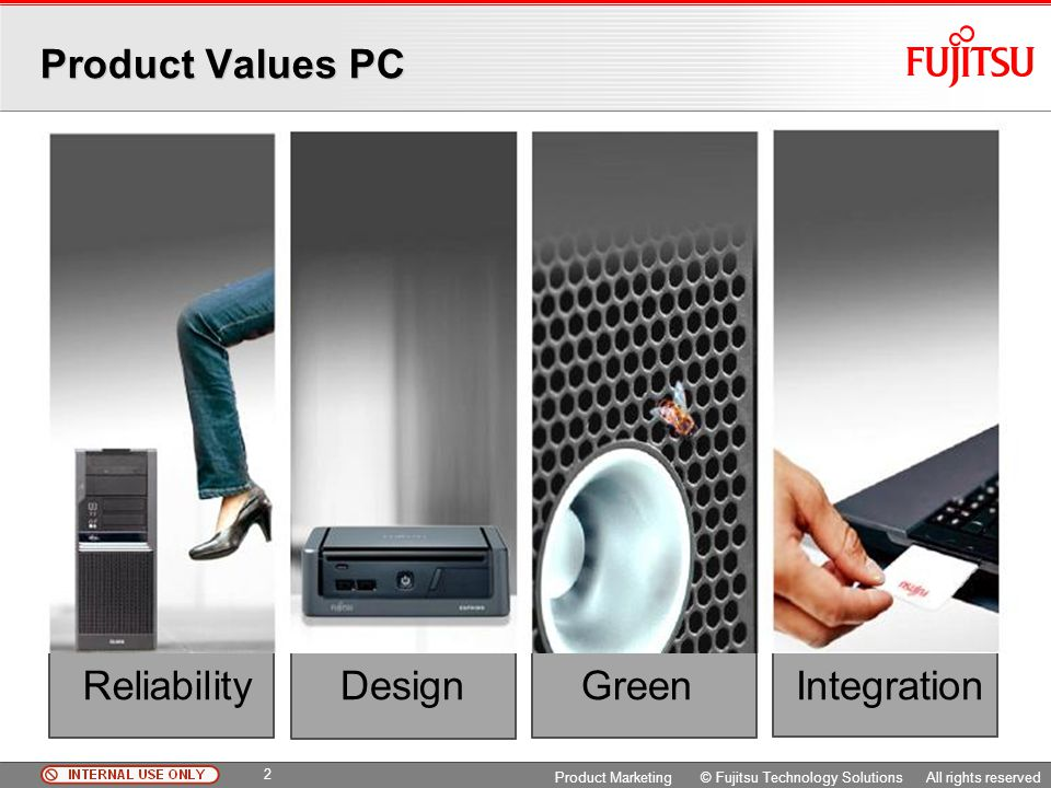 Product Values PC Reliability Design Integration Green