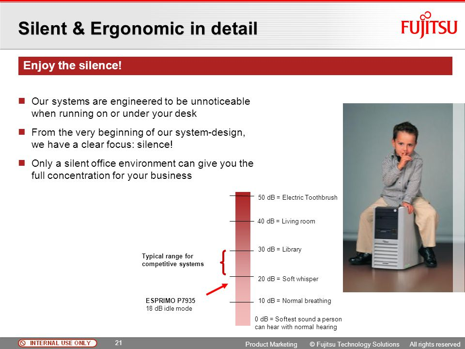 Silent & Ergonomic in detail