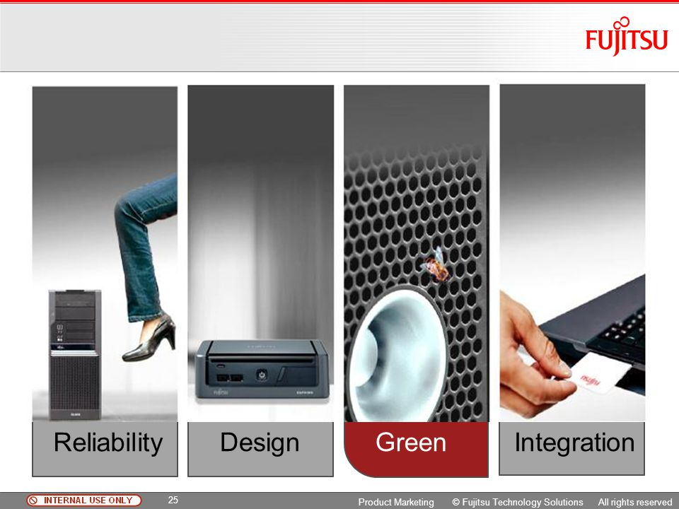 Reliability Design Integration Green Green Copyright 2009 Fujitsu FTS