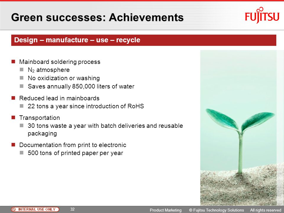 Green successes: Achievements