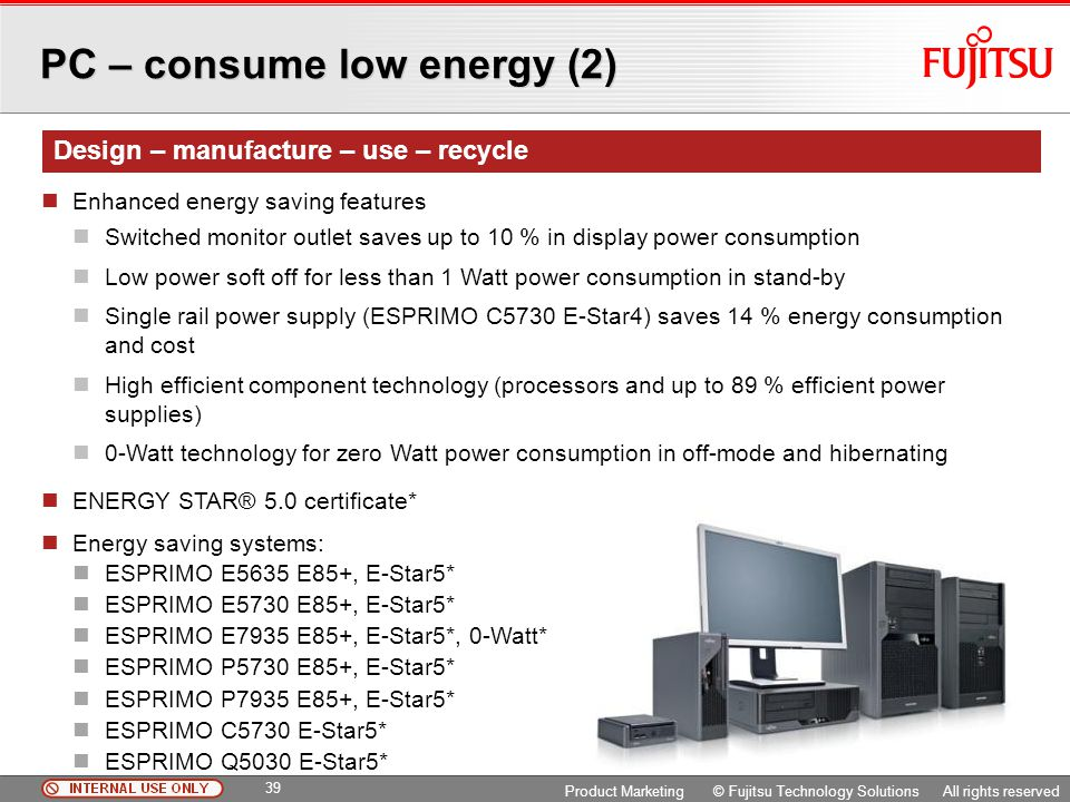 PC – consume low energy (2)