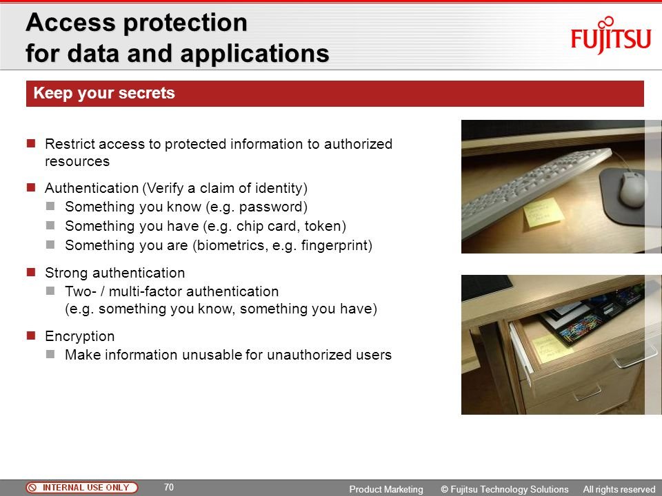Access protection for data and applications