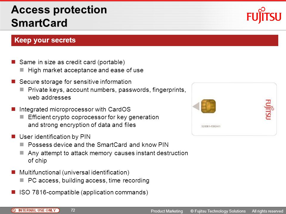Access protection SmartCard