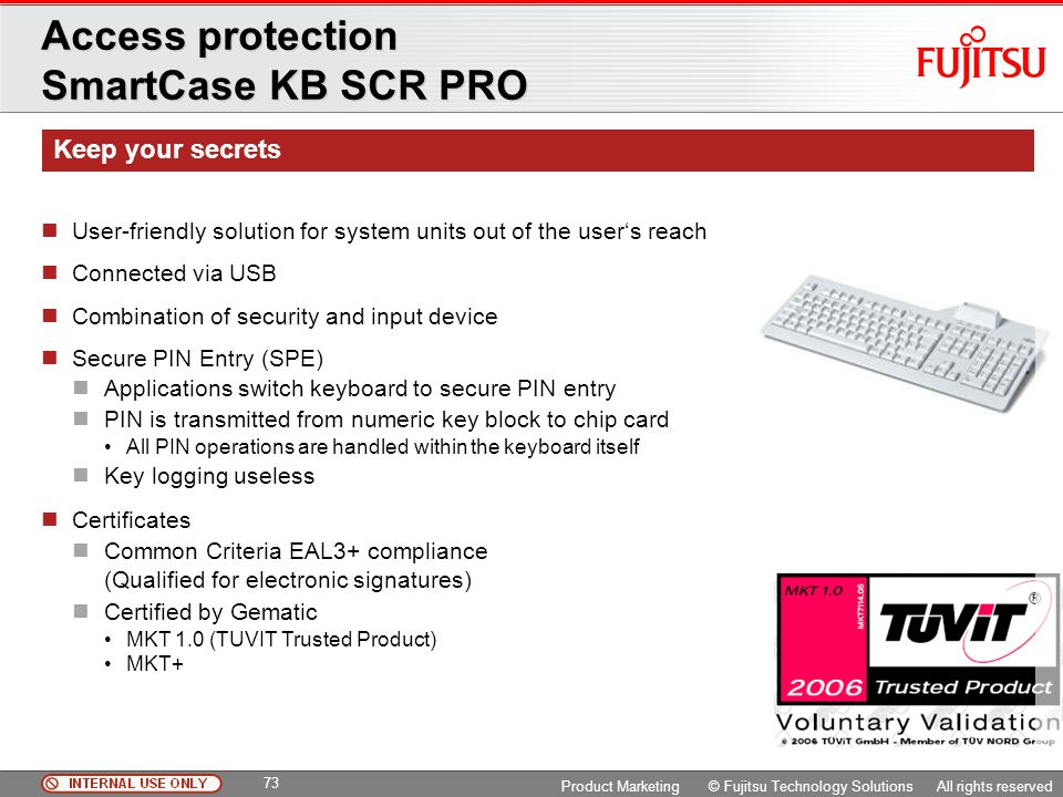 Access protection SmartCase KB SCR PRO