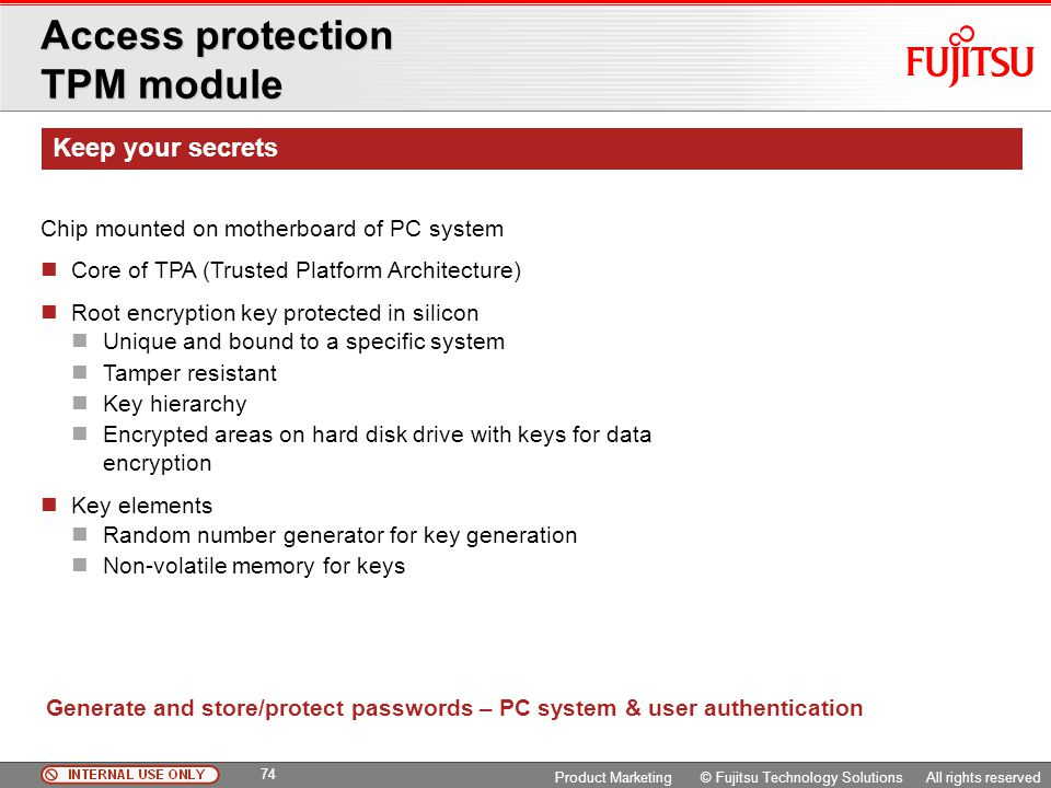 Access protection TPM module