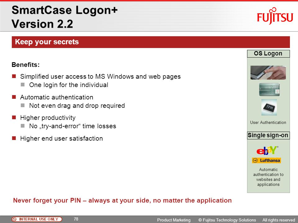 SmartCase Logon+ Version 2.2