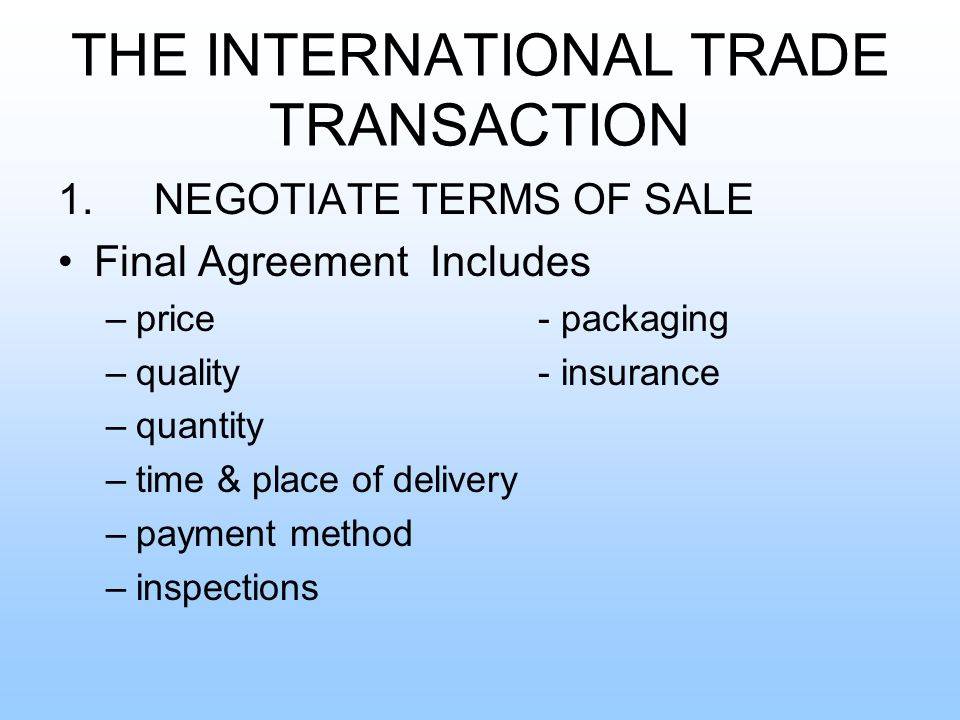 the international trade transaction ppt video online