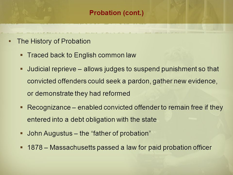 essay on probation of offenders act Probation helps offenders evaluating the purpose and effectiveness of juvenile probation essay and effectiveness of juvenile probation matthew.