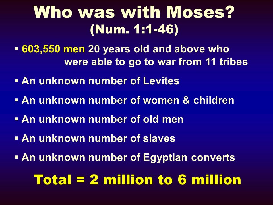 Who was with Moses (Num. 1:1-46)