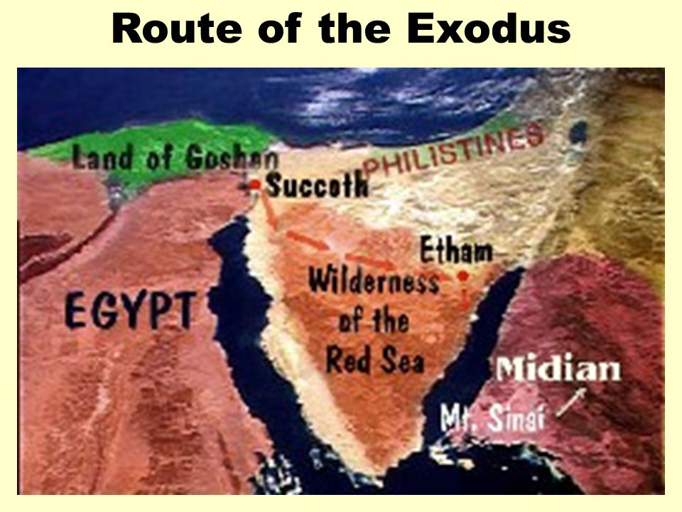 Route of the ExodusRoute of Exodus 1.