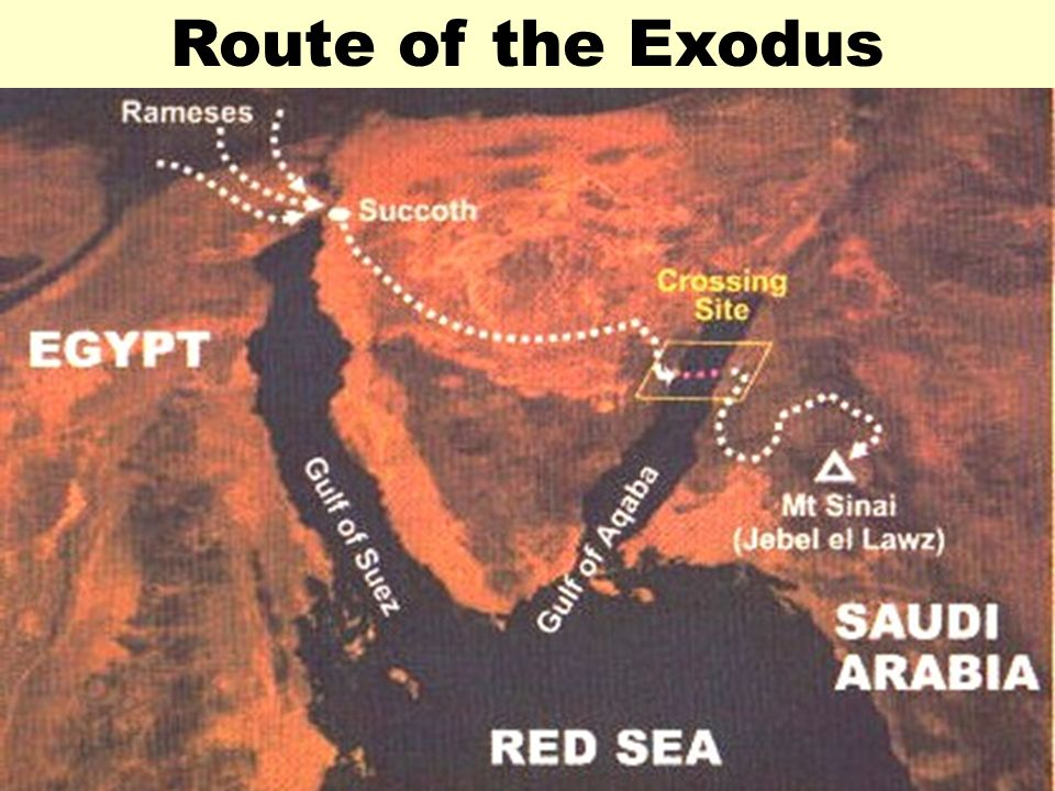 Route of the ExodusRoute of Exodus 2.