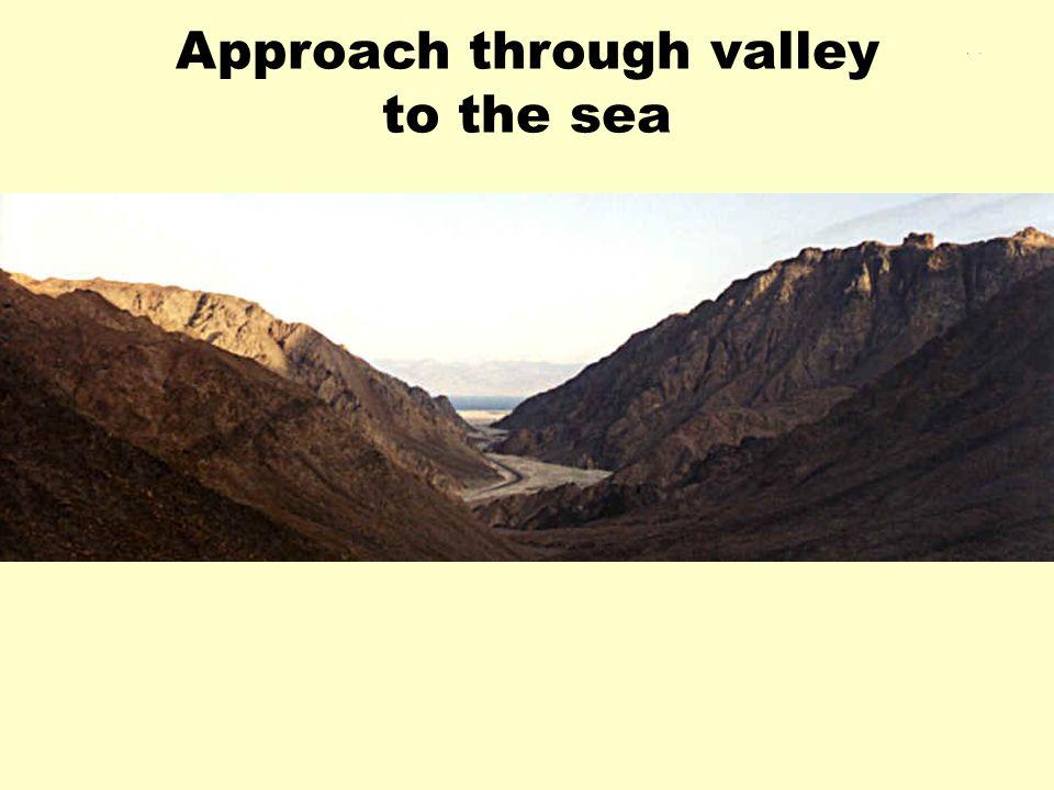 Approach through valley