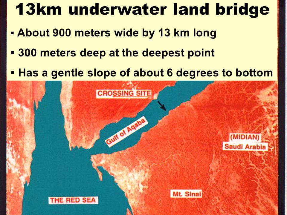 13km underwater land bridge