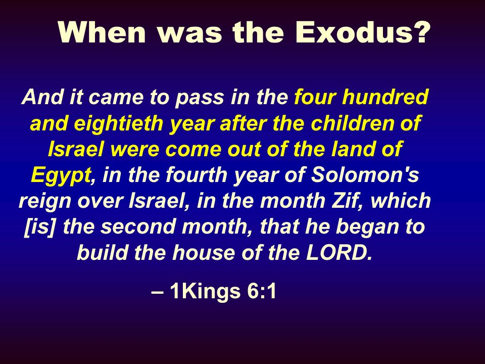 When was the Exodus