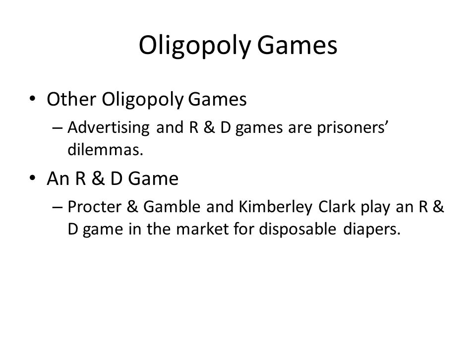 oligopoly in game console industry Nintendo lost its dominant position in the video game industry during the  under  network effects, consumer heterogeneity, and oligopolistic competition.