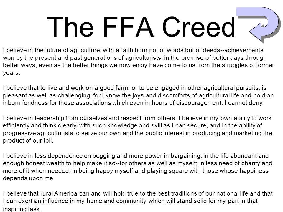 The FFA Creed The FFA Creed