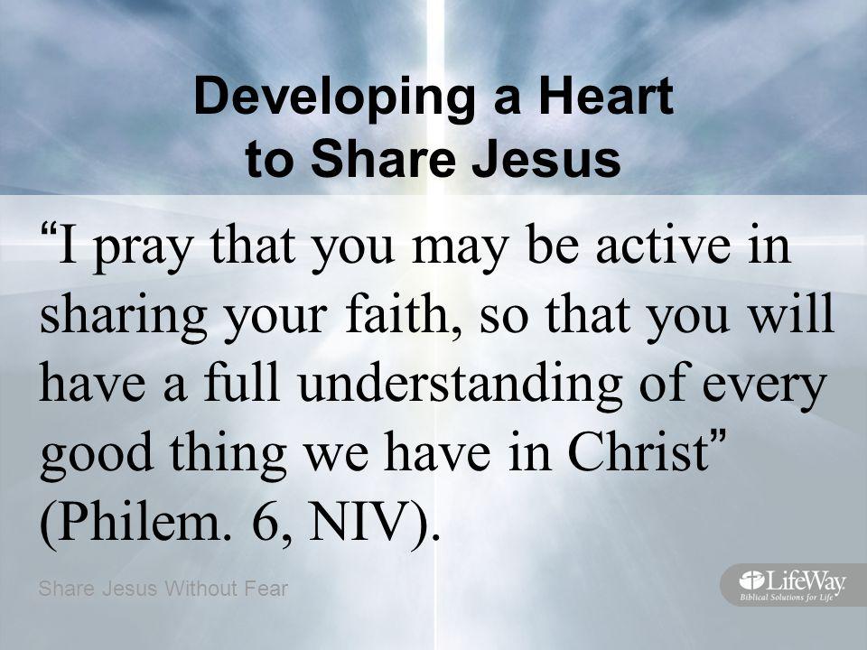 Developing a Heart to Share Jesus