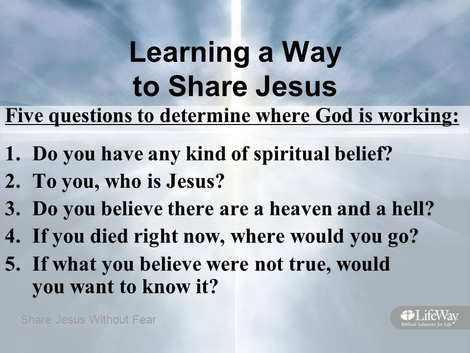 Learning a Way to Share Jesus