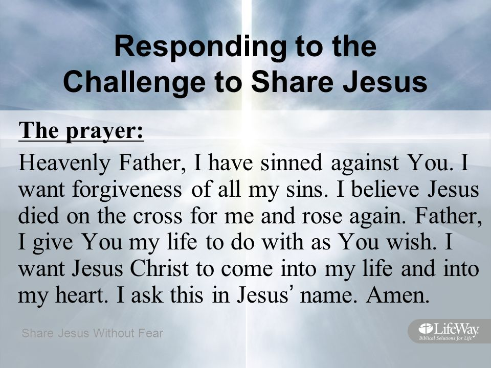 Responding to the Challenge to Share Jesus