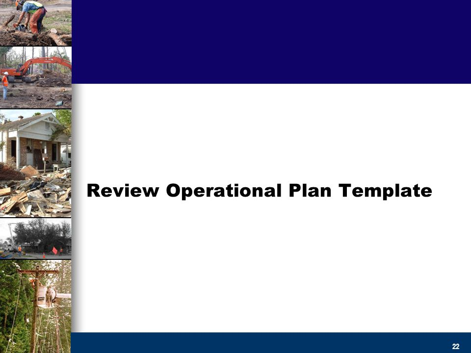 Creating Operational Debris Management Plans And Templates  Ppt