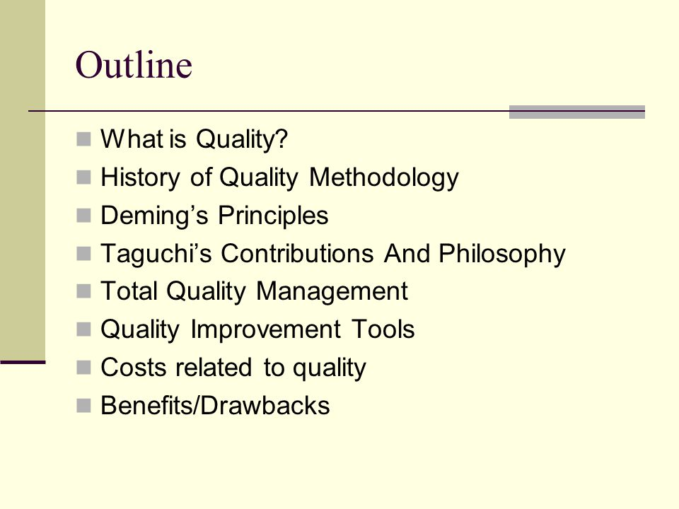 history of quality methodology Series b (statistical methodology) of the journal of the royal statistical society  started out simply as the supplement to the  title history (what is a title history .