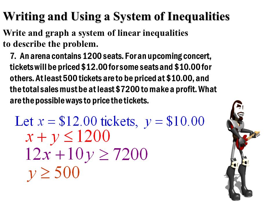 Writing and Using a System of Inequalities