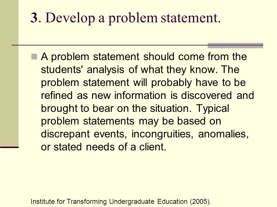 situation analysis and problem statement lester 2012-01-30 i situation analysis a data analysis and participatory needs assessment b problem analysis  organizational capacity assessment iii finalizing the problem statement and focus of the project iv identifying entry-points.