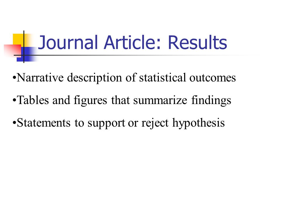 Journal Article: Results