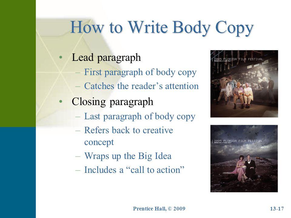How to write closing paragraph
