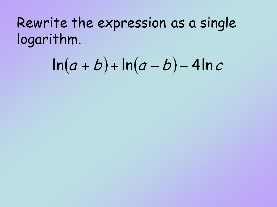 Rewrite the expression ln9+4lnx+6ln(x^2+6) as a single logarithm lnA. Then the function