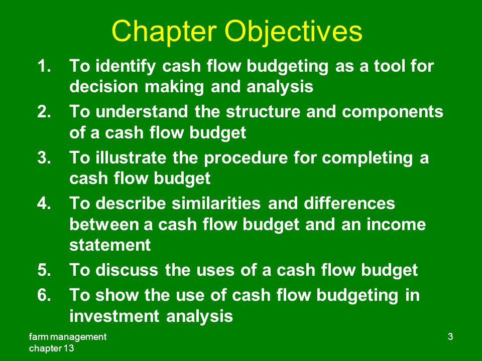 objectives of cash flow analysis pdf