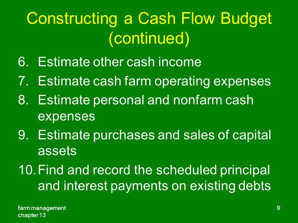 personal cash flow management pdf