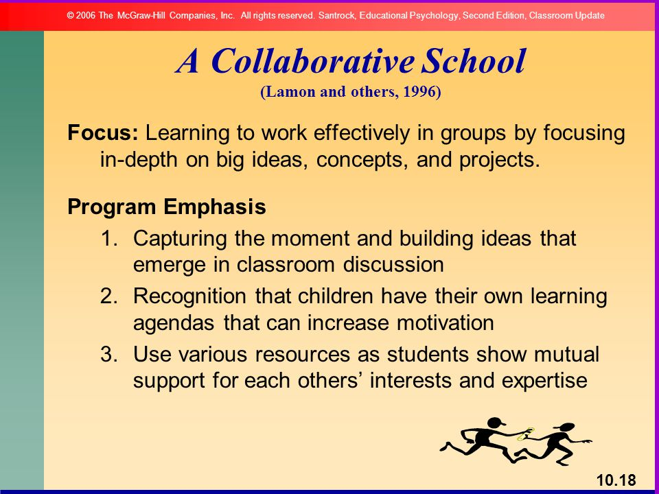 A Collaborative School (Lamon and others, 1996)