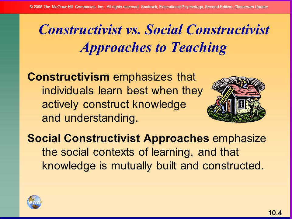 essentialist vs social constructionist approach Applications of social constructivist learning theories in knowledge translation for healthcare professionals: a scoping review.
