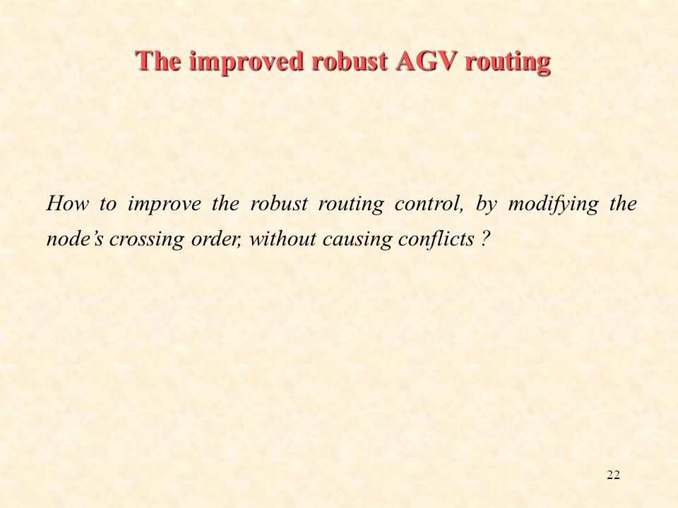 The improved robust AGV routing