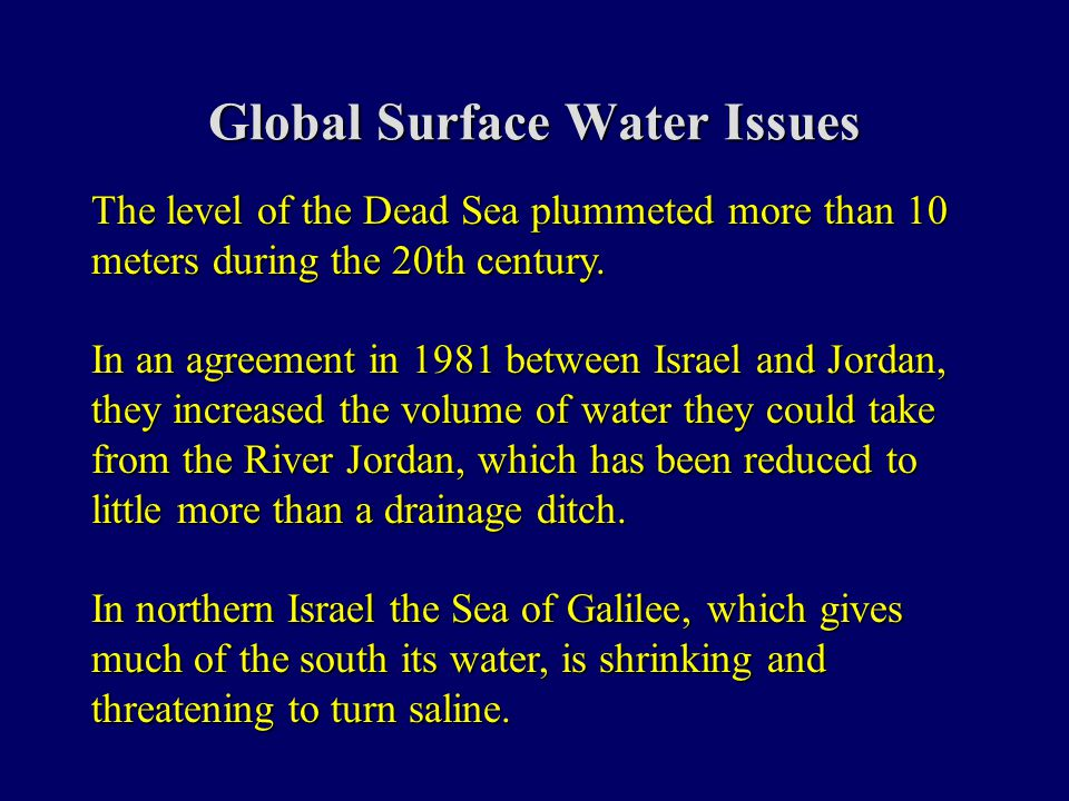 year 10 global water issues This guide provides background information on critical water issues and extensive, carefully chosen data on the spatial and temporal distribution of the world's fresh water resources chapter 1 presents an overview on issues related to global fresh water.