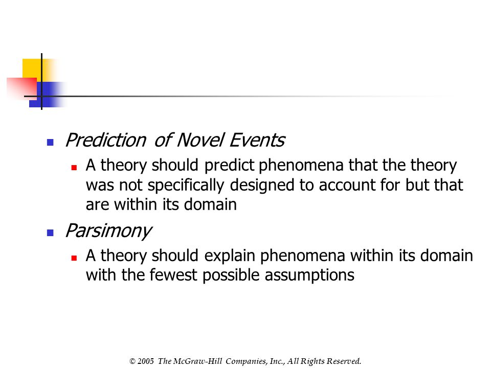 Prediction of Novel Events