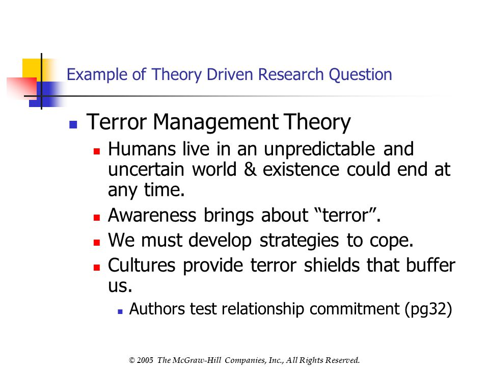 Example of Theory Driven Research Question