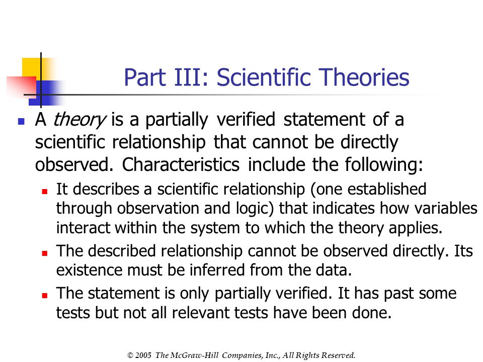 Part III: Scientific Theories