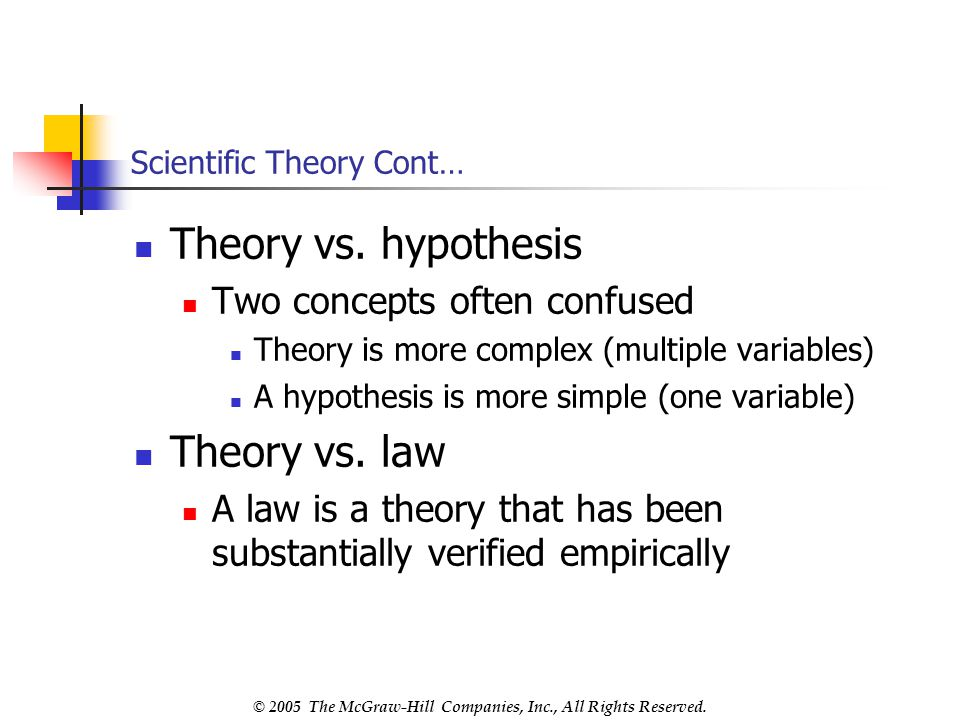 Scientific Theory Cont…