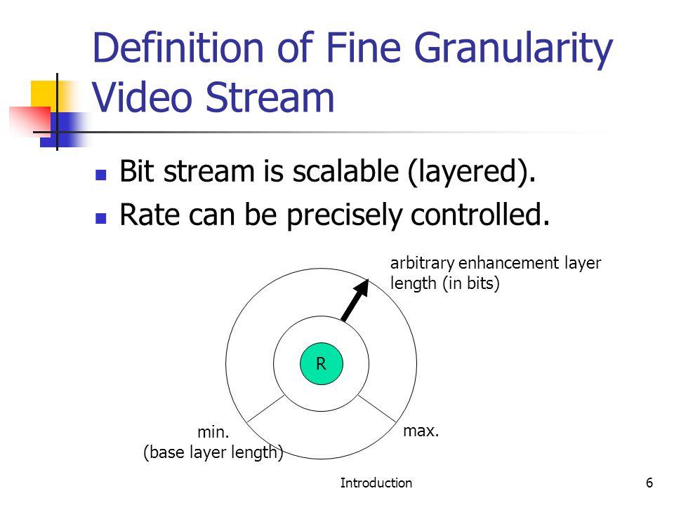 Bit-stream image definition