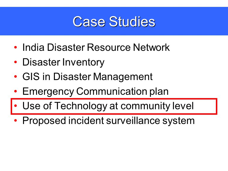 disaster management communications plan case Developing an emergency communications plan: developing an emergency communications plan: years experience in business continuity management as a.