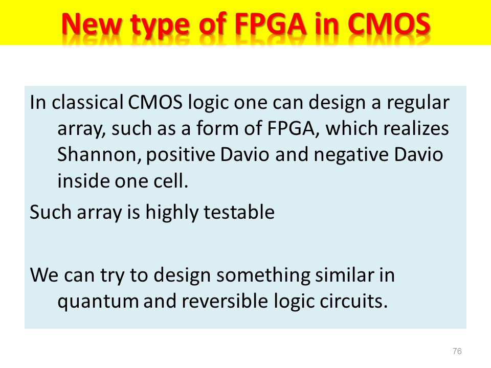 New type of FPGA in CMOS