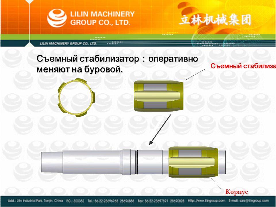 Съемный стабилизатор:оперативно меняют на буровой.