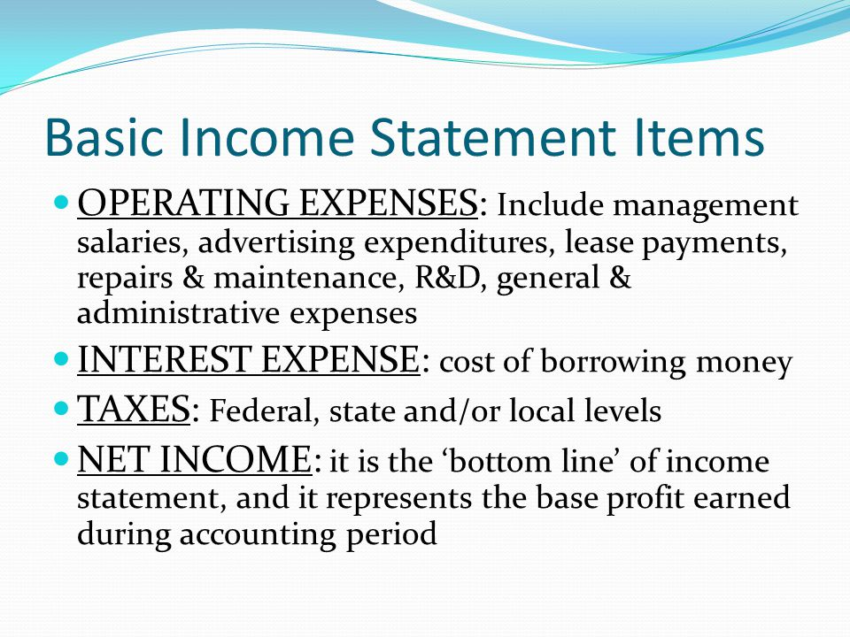 how to keep borrowing cost in income statements