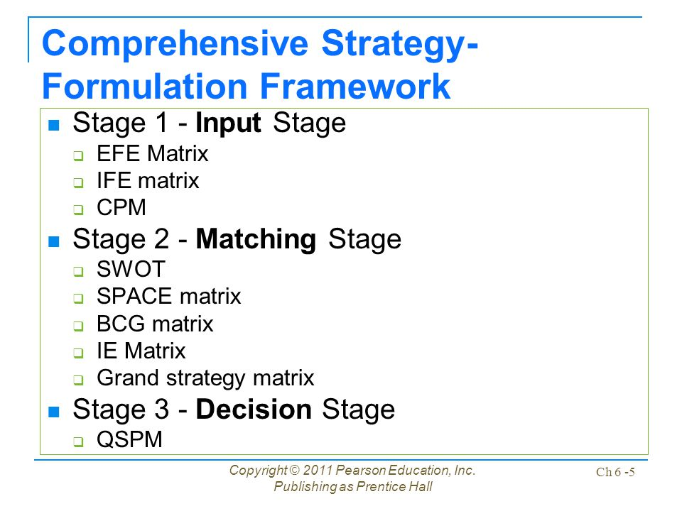 efe ife cpm analysis of dell